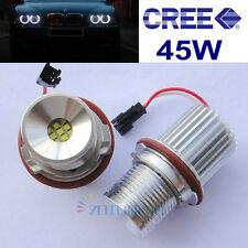 2x BMW Angel Eye 45W Cree Bright White LED lights For BMW E39 X5 E53 E60 E63 E87