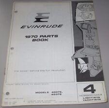 Parts Book Evinrude 4 HP Lightwin Yachtwin 4007E 4037E Ersatzteilkatalog 1970!
