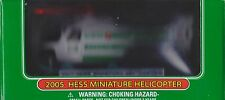 COLLECTIBLE New 2005 Miniature HESS GASOLINE HELICOPTER MINI TRUCK GAS OIL SPINS