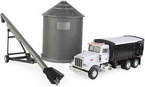 Ertl Big Farm 1:32 Scale Peterbilt 367 Straight Truck w/Grain Box & Grain Bin