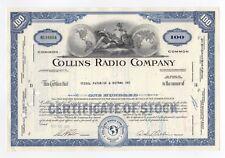 Collins Radio Company Stock Certificate