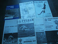 6  1960's / 1970's  fulham football programs 1 leicester city bulk collection