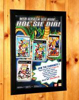 Dragon Ball Z Sparking! NEO Naruto Ultimate Ninja PS2 Old Rare Poster Ad Framed