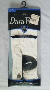 Nike Dura Feel Golf Glove, Men's Regular Left Hand Size 25 cm White/Black