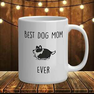 Border Collie Mug Best Dog Mom Ever Funny Coffee Mug Gifts For Dog