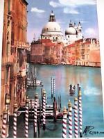 "Martin Roberts ""Grand Canal"" Hand Signed Litho Photo Venice Italy Gondola Art"