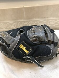 "Wilson A2500 33"" Black Mesh Baseball Softball Catchers Mitt Right Hand Throw"