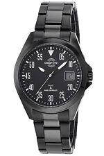 MASTER TIME Funk-Armbanduhr für Herren Basic mit Stahlband MTGA-10689-25M