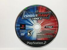 WWE SmackDown vs. Raw 2007 (PlayStation 2 PS2 2006) Disc Only - Cleaned, Tested