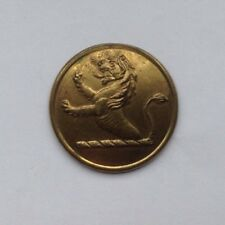 Irish Livery Large Gilt Button - Lion Rampant - Early Dublin Back Mark