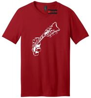 Guitar Graphic Tee Music Mens V-Neck T Shirt Guitarist Gift College Band Tee