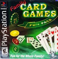 Family Card Games Fun Pack (Sony PlayStation 1, 2003) PS1 New Sealed