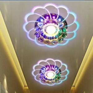 Modern Crystal LED Ceiling Recessed Light Chandeliers Wall Hallway Corridor Lamp
