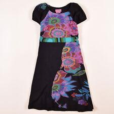 Desigual Mädchen Kinder Kleid Dress Gr.146  Schwarz, 51039