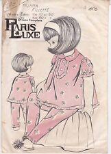 Patron Ancien Paris Luxe Enfant n°105 - Pyjama manche courte Taille 4 ans