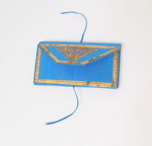 Blue Silk Needlecase c1860