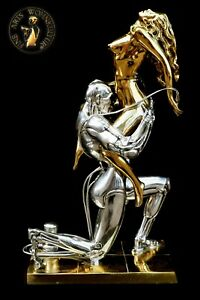 FINE ARTS Wohnkultur Bronze Sculpture Figure Techno Lover Erotic Sexual Statue