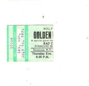 Golden Earring Bad Company Concert Ticket Stub 7-18-74