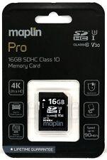 Maplin Pro 16GB SDHC Class 10 4K Ultra HD Memory Card Up To 90MB/s