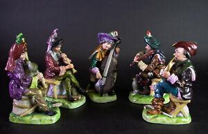 - alte MUSIKANTEN Gruppe - 5 Figuren Porzellan Thüringen Rudolstadt