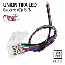 CONECTOR TIRAS LED 5050 3528 SMD union empalme TIRAS LED CON CABLE RGB