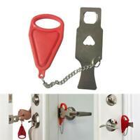 Addalock - Portable Door Lock Travel Hotel School Lockdown Lock Temporary X0E0