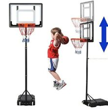 Kids Basketball Hoop Goal Adjustable Stand Backboard Portable Indoor Outdoor New