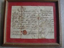 Rare Original 1776 Lancaster County PA Dutch Promisory Note Framed