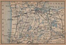AMSTERDAM environs. Utrecht Leiden haarlem Zaandam. Netherlands kaart 1901 map