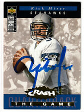 Rick Mirer Seattle Seahawks QB SIGNED autographed card Notre Dame 1994 UD CC