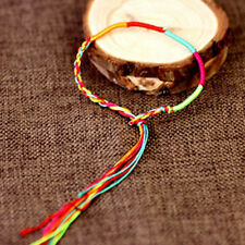 9X Hippie Colorful Braided Bracelet String Wristband Ankle Bangle Lucky-Chain