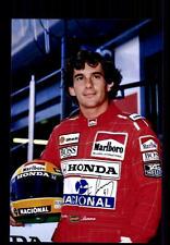 Ayrton Senna + + AUTOGRAPHE + + + + formule 1 champion du monde 1988/90/91 + + CH 137