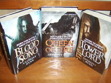 ANTHONY RYAN BLOOD SONG-TOWER LORD-QUEEN OF FIRE   SIGNED-STAMPED-#79/100