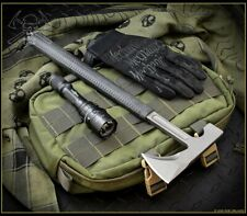 RMJ Tactical LOGGERHEAD Tomahawk Black with Kydex Sheath - Authorized Dealer