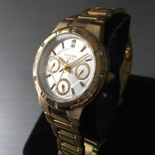 Ladies Casio Watch SHEEN SHE-3800 Gold Steel Crystals Multi Dial Genuine