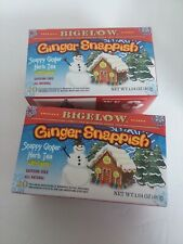 (2) Bigelow Ginger Snappish Tea Christmas Holiday Herb Tea 20 Bags in Each Box