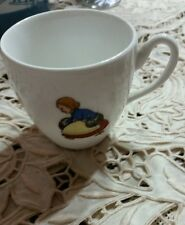 C.T. Altwasser Germany China Teacup Country scene chicken,duck,lady whimsical