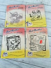 Vintage Aunt Martha's Hot Iron Transfers Lot of 21 Mixed Used