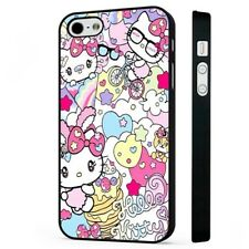 Hello Kitty Colourful Magical BLACK PHONE CASE COVER fits iPHONE