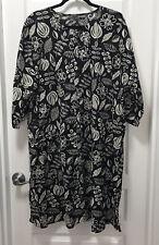 GUDRUN SJODEN ORGANIC COTTON DRESS size XL   18-20  NEW
