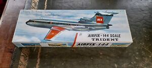 Airfix - 144 Model Aircraft Kit Hawker Siddeley Trident Unmade from 1960s.