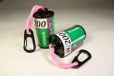 X1 Retro FUJIFILM 35mm Film Canister Keyring (pink paracord & black caribina)
