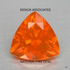 MEXICAN FIRE OPAL 7 MM TRILLION CUT ALL NATURAL BEAUTIFUL COLOR