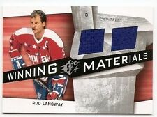 08/09 SPx WINNING MATERIALS JERSEY Rod Langway #WMRL