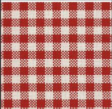 Tessuto Colonia Quadri Rosso - Punto svizzero -Broderie Suisse - F.lli Graziano