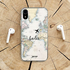 World Map iPhone 11 X Silicone Case Travel Adventure iPhone XS XR 7 8 Plus Skin