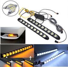 2x 12V LED Auto Blinker Scheinwerfer Gelb/Weiß LAUFEFFEKT Zusatzlampe Universal