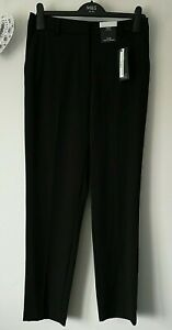 LADIES M&S SIZES 12 18 OR 22 BLACK SLIM ANKLE GRAZER STRETCH TROUSERS FREE POST