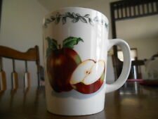 TTO40 Apple Seeds Mugs 8 oz Today's Home Stoneware Red Green White Brown !