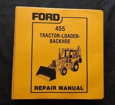 GENUINE FORD 455 TRACTOR LOADER BACKHOE SERVICE REPAIR MANUAL 1988 EXCELLENT